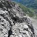 Über gut gestufte Felsen gewinnt man schnell an Höhe