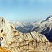 Karwendelpanorama - Richtung Osten reihen sich doch einige namhafte Gipfel auf. Hierfasten wir den Entschluss als ernsthafte, nächste Tour gleich den höchsten Gipfel die Birkkarspitze ) zu machen - das Gebirge quasi abzuhaken  ;-)