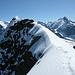 Die letzten Meter des Gipfelgrates.
