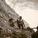 In der Ostflanke des Riffelgrates. Klettersteigschwierigkeit zumeist B-C...aber ziemlich lang.