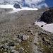 am Abstieg zur Hütte bietet sich ein weiterer guter Blick zum Felsriegel und dem Gipfel