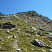 Einstieg auf den Grat, oberhalb Chamanna Paradis