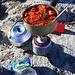 Biwakromantik!<br /><br />Nach einer feinen Suppe wird der Zweite Gang gekocht.