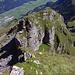 Blick in Axi's T5+ Aufstieg über den Vorgipfel: [tour18142 Oltschiburg 2233 m - Teil 2: Noch lange nicht das Ende]