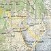 Der Kartenausschnitt mit unserer Route