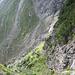 Rückblick auf den Aufstiegsweg