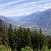 Von Montana aus nochmals Aussicht ins Rhonetal