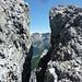 Felsspalte auf dem weg zur Payer Hütte