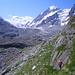 Auf dem Weg zur Zunge des Corbasière-Gletschers. Im Hintergrund der Combin.