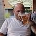 Biertrinker im Abendlicht.. :-)