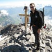 [u Schlumpf] mit Gipfelkreuz Vrenelisgärtli 2904m
