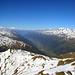 Ausblick vom Gipfel ins Rhonetal.
