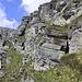unser Abstieg über diesen Steinbockpfad