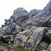 nochmals die Kletterstelle unterhalb des Gipfels (I)