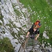 lange Leiter beim Anstieg zur Sulzleklammspitze