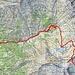 Ungefähre Route Gagnone A