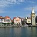 Lindau mit Mangenturm, einem ehemaligen Leuchtturm aus dem XII. Jahrhundert