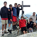 Meritata foto di vetta del gruppo. Da sinistra : Daniele, Alberto, Stefano, Brown, Francesco, Alessandro, Gimmy e Giorgio