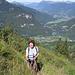 In salita sopra la valle della Giffre.