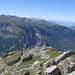 Dall'alto il sentiero che percorre la Fretes du Grenarion.
