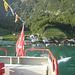 rasch fährt das Boot zurück nach Murg