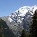 Rechts, Altels; Mitte Balmhorn; links, der kleine Gratgipfel unterhalb der Schneegrenze ist der Gasterespitz