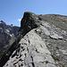 Steiler Abbruch vom Wildelsiggrat