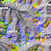 Falschfarben-Satellitenbild der Region Chamuera. Meine Kartierungs-Tour verlief mehr oder weniger den Farbkleksen (bzw. den Gipfeln) nach :-)