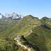 der Golmer Höhenweg bis zur Geißspitze führt immer am Grat entlang