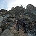 Am Besso Südwestgrat, unser Einstieg auf ca. 3350m