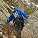 Abstieg durch den Gletscherschliff