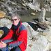 Noch recht entspannt und glücklich am Ende des Gletschers
