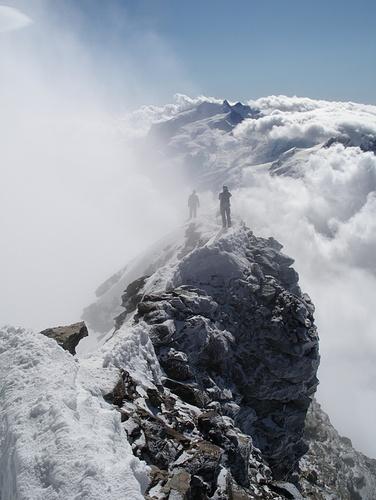 Tolle Stimmung auf dem Gipfel!