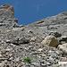 Der steile Weg im oberen Teil des Tersol-Tals