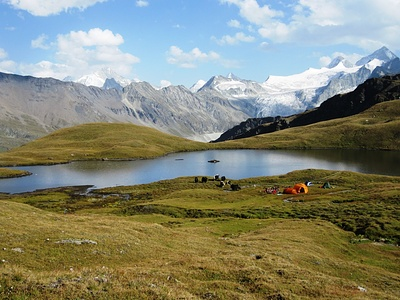 Yak-Trekking Lager am Lac des Autannes