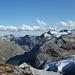 Spechhorn, Joderhorn, Monte Moro, Rothorn und Steinchalchhorn