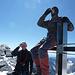 Strahlhorn 4190m, auf dem Gipfel, als Belohnung ein Schnäpsli