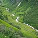 das untere, grüne Tal des Gliederbaches