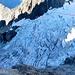 ungefähre Route durch das Spaltenchaos des Glacier de Freney<br /><br />Weit unten sind zwei weitere Bergsteiger zu sehen; welches Ziel sie ansteuerten blieb uns unbekannt