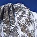 Mont Blanc de Courmayeur und die Freneypfeiler direkt vor uns<br />Durch das Couloir hinauf zum Firndreieck rechts davon führt der Weg hinauf zum Grand Pilier d ´Angle