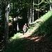 circa auf 1180 Meter stößt man auf einen schmalen Pfad den man (absteigend) nach links nimmt