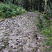 spitze Steine beim Aufstieg