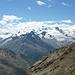 Blick zu Strahlhorn, Allalinhorn und Alphubel