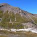 Versante sud della P.ta dei Camosci, notare la diagonale del sentiero Castiglioni