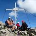 Meine Begleiter auf dem Gipfel des Altmann 2435m