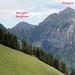 Route vom Renggpass (Pass: Kiental - Suldtal) auf den Dreispitz