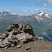 Gipfel Piz S-chalambert Dadaint, dahinter Piz Tschütta (Stammerspitz) und Muttler