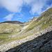 Blick zum Gloggentürmlipass, dort geht's zum Gemmstock ob Andermatt