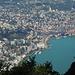 Ausblick vom Monte San Salvatore nach Lugano und zum See