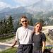 Aufbruch am Kreuzjochhaus - hinten unser Ziel, die Nordwand der Alpspitze